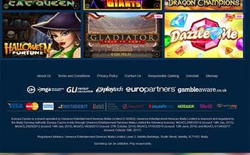 Screenshot 1 Europa Casino
