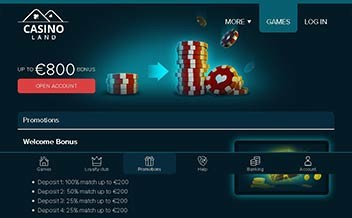 Screenshot 1 Casinoland