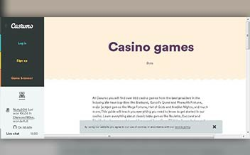 Screenshot 4 Casumo Casino