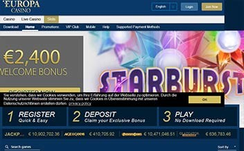 Screenshot 4 Europa Casino