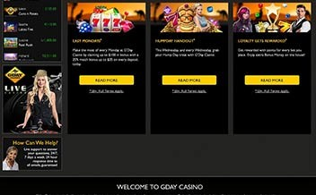 Screenshot 2 GDay Casino