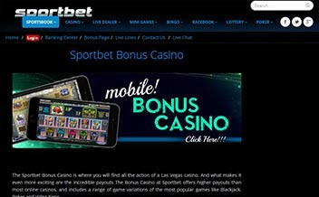 Screenshot 1 Sportbet Casino