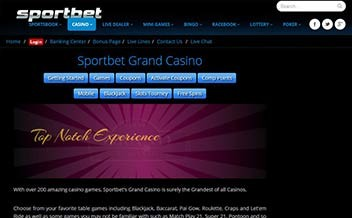Screenshot 4 Sportbet Casino