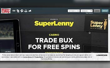 Screenshot 1 SuperLenny Casino